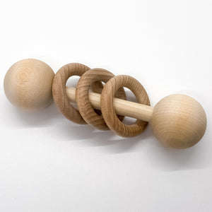 Wooden Rattle Ends / Dowel Caps (Set of 2)