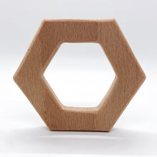 Load image into Gallery viewer, Beech Wood Hexagon Teether