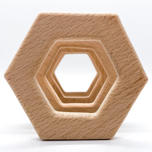Beech Wood Hexagon Teether