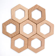 Load image into Gallery viewer, Custom Engraving on Hexagon Teethers