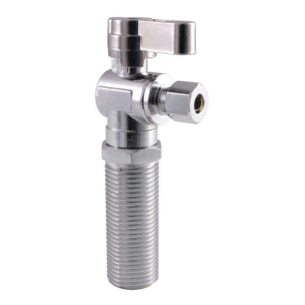 "1/2"" MIP x 1/4"" O.D. Comp Angle Shut Off Valve, Polished Chrome"
