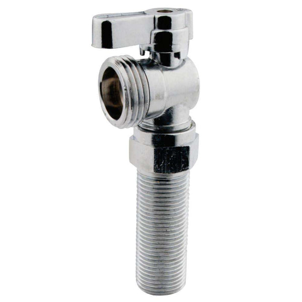 "1/2"" MIP x 3/4"" Hose Thread, angle stop with 2 1/8"" nipple extension"