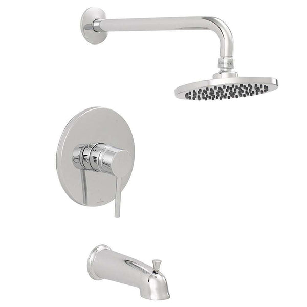 Jones Stephens 1559280 Contemporary Tub And Shower Faucet Chrome
