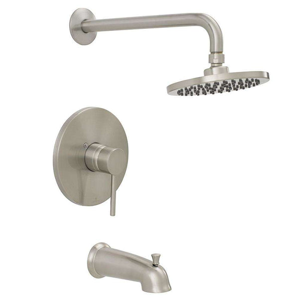 Jones Stephens 1559281 Contemporary Tub And Shower Faucet Brushed