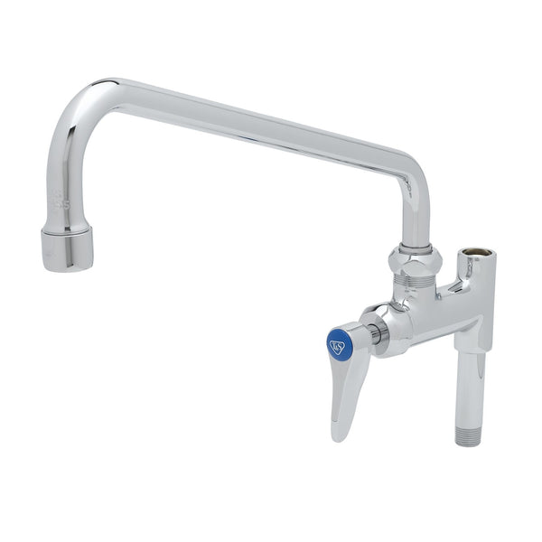 "T&S Brass B-0156-CR Add-On Faucet, Cerama Cartridge, 12"" Nozzle, Lever Handle"