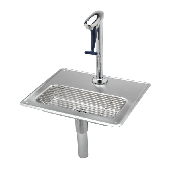 T&S Brass B-1230 Glass Filler Water Station, Pedestal Glass Filler and Drip Pan