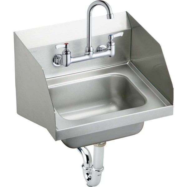 "Elkay CHS1716LRSC SS 16-3/4"" x 15-1/2"" x 13"", Single Bowl Wall Hung Handwash Sinks Kit"