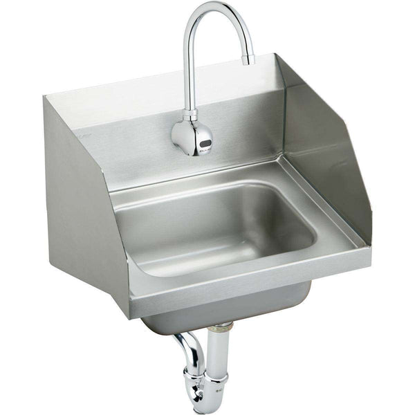 "Elkay CHS1716LRSSACMC SS 16-3/4"" x 15-1/2"" x 13"", Single Bowl Wall Hung Handwash Sinks Kit"