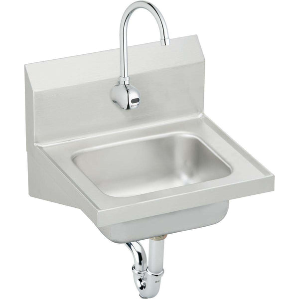 "Elkay CHS1716SACMC SS 16-3/4"" x 15-1/2"" x 13"", Single Bowl Wall Hung Handwash Sinks Kit"