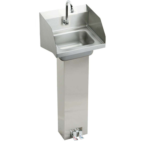 "Elkay CHSP1716LRSC SS 16-3/4"" x 15-1/2"" x 13"", Single Bowl Wall Hung Handwash Sinks Kit"
