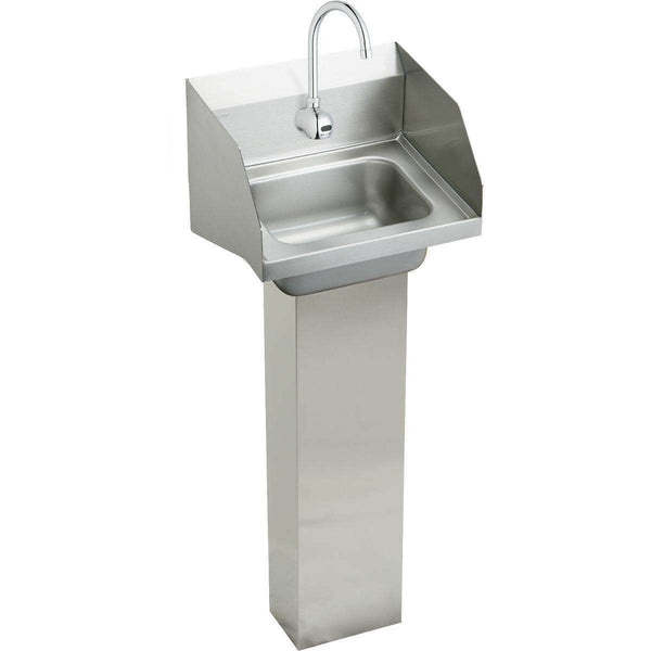 "Elkay CHSP1716LRSSACMC SS 16-3/4"" x 15-1/2"" x 13"", Single Bowl Wall Hung Handwash Sinks Kit"