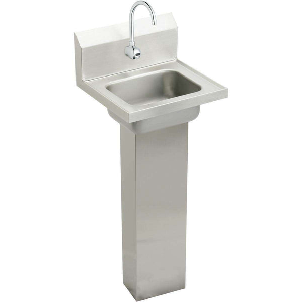 "Elkay CHSP1716SACMC SS 16-3/4"" x 15-1/2"" x 13"", Single Bowl Wall Hung Handwash Sinks Kit"