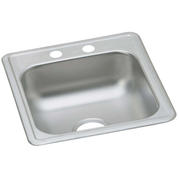 Elkay D117212 Dayton Stainless Steel 17 x 21.2 x 6.5 Single Bowl Drop-in Bar Sinks