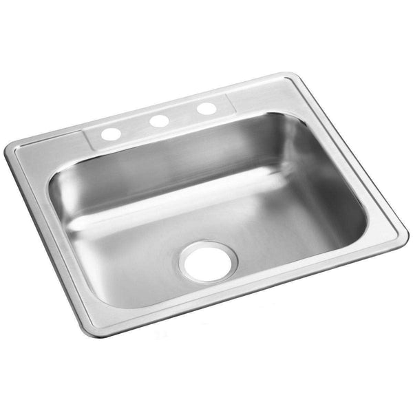 Elkay D125213 Dayton Stainless Steel 25 x 21.2 x 6.5 Single Bowl Drop-in Sinks