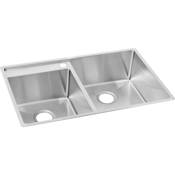 Elkay ECTRUD31199L3 SS 32.5 x 20.5 x 9 Offset Double Under MT Sinks