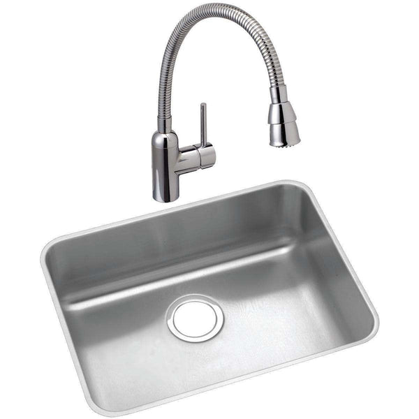 Elkay ELUH191610C Lustertone SS 21.5 x 18.5 x 10 Single Undermount Sinks Kit