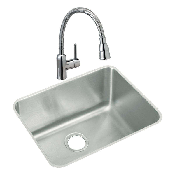 Elkay ELUH211512C Lustertone SS 23.5 x 18.2 x 12 Single Undermount Sinks Kit