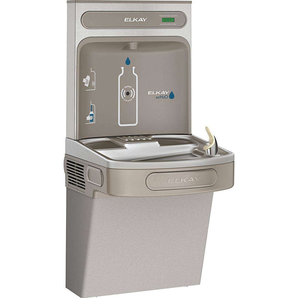 Elkay EZS8WSLK EZH2O Bottle Filling Station with Single ADA Cooler 8 GPH Light Gray