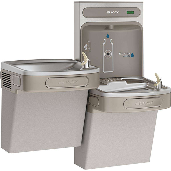 Elkay EZSTL8WSLK Bottle Filling Station & Versatile Bi-Level ADA Cooler 8 GPH Light Gray