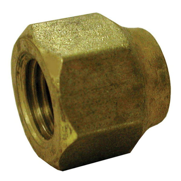 Jones Stephens F40013 (641Fs-64) 3/8X1/4 Br Short Fgd Fl Nut