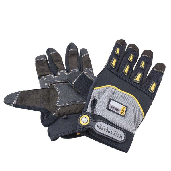 Jones Stephens G50211 Pair Anti Vibration Synthetic Leather Palm Gloves