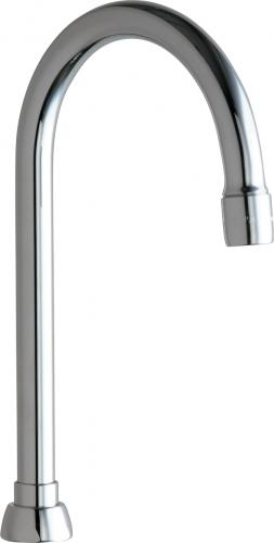 "Chicago Faucets | Rigid/Swing Gooseneck Spout (5-1/4"") 