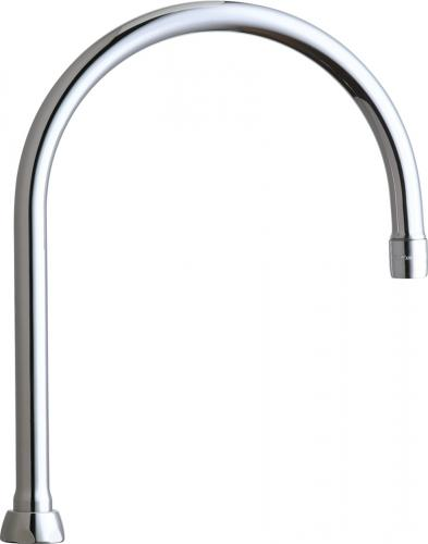 "Chicago Faucets | Rigid/Swing Gooseneck Spout (8"") 