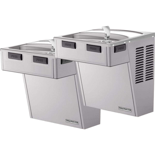 Halsey Taylor HACDBLRPV-NF Wall Mount Bi-Level Reverse ADA Coolers Non-Filtered Platinum Vinyl