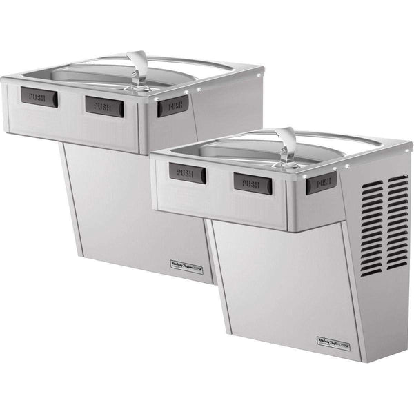 Halsey Taylor HACDBLSS-NF Wall Mount Bi-Level ADA Coolers Non-Filtered Non-Refrigerated SS