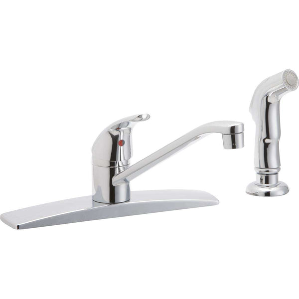 Elkay LK2478CR Everyday Three Hole Deck Mount Kitchen Faucets with Side Spray Chrome