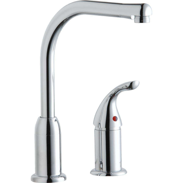 Elkay LK3000CR Everyday Kitchen Deck Mount Faucets with Remote Lever Handle Chrome