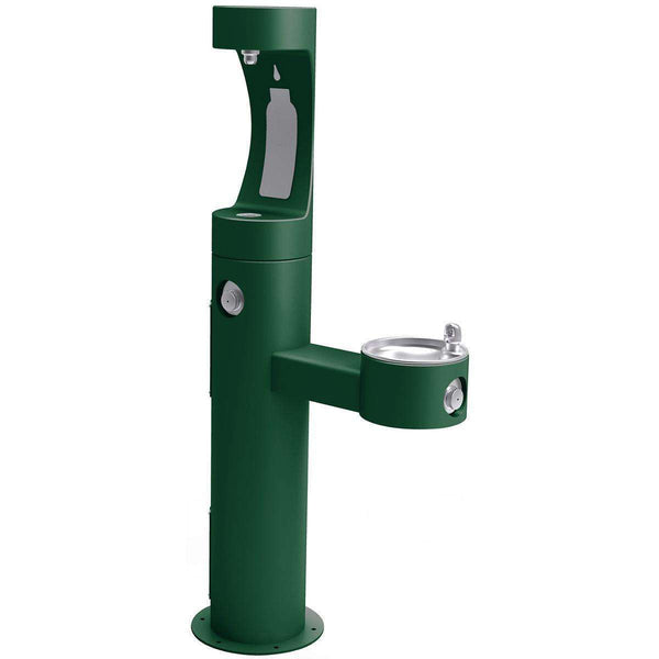 Elkay LK4420BF1UEVG Outdoor EZH2O Bottle Filling Station Bi-Level Non-Filtered Evergreen