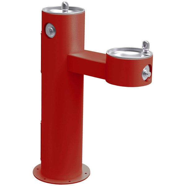 Elkay LK4420FRKRED Outdoor Fountain Bi-Level Pedestal Non-Filtered Non-Refrigerated FR Red