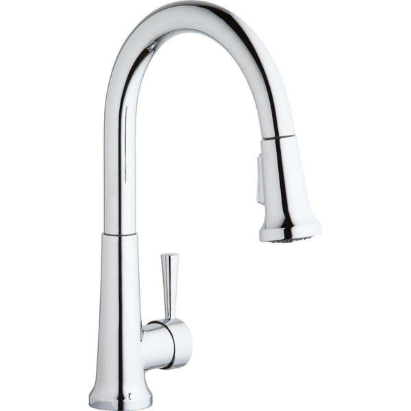 Elkay LK6000CR 1 Hole Kitchen Faucets Pull-down Spray Forward Only Lever Handle Chrome