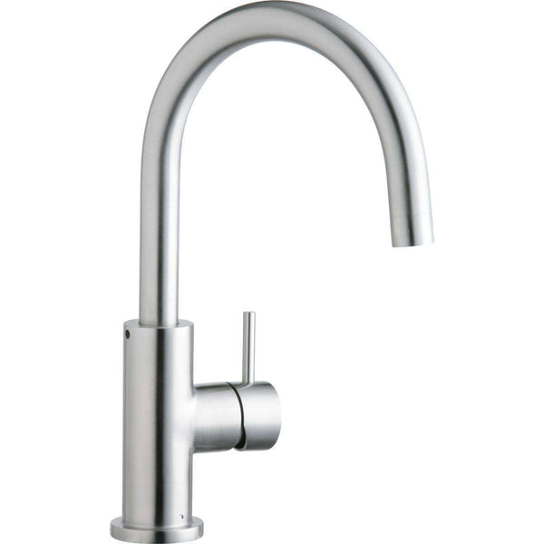 Elkay LK7921SSS Allure Single Hole Kitchen Faucets with Lever Handle Satin Stainless Steel