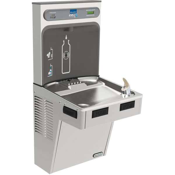 Elkay LMABF8WSSK EZH2O Bottle Filling Station with Single ADA Cooler Filtered 8 GPH SS