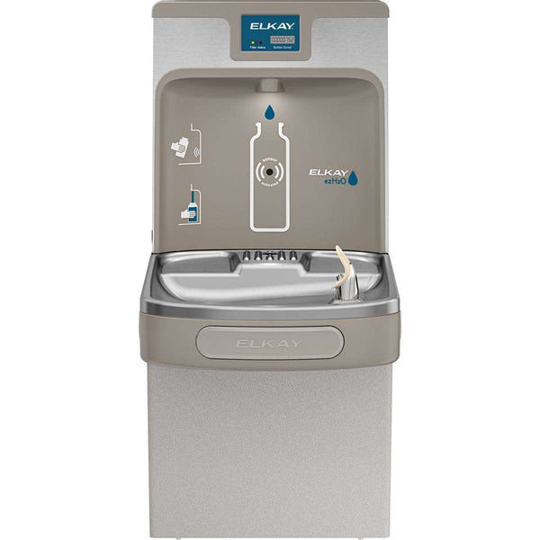Elkay LZS8WSLP Enhanced Bottle Filling Station & Single Cooler Filtered 8 GPH Light Gray