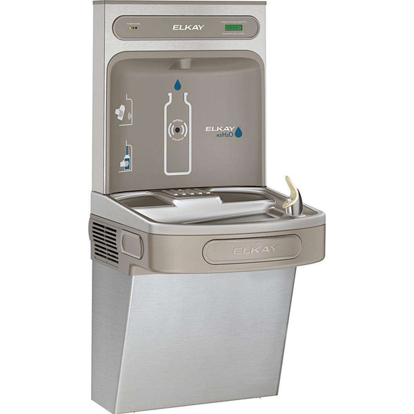 Elkay LZS8WSSK EZH2O Bottle Filling Station with Single ADA Cooler Filtered 8 GPH SS