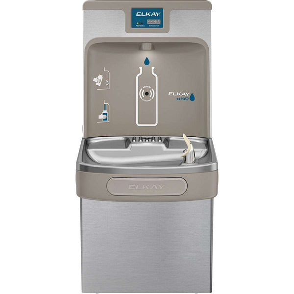 Elkay LZS8WSSP Enhanced Bottle Filling Station & Single ADA Cooler Filtered 8 GPH SS