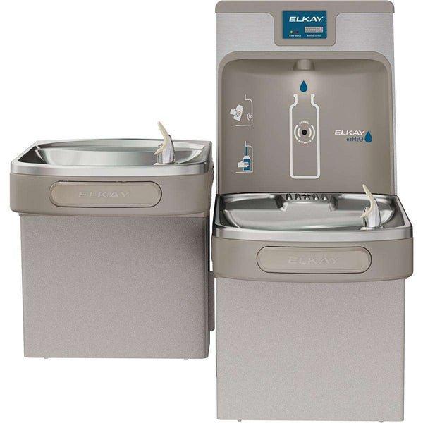 Elkay LZSTL8WSLP Enhanced Bottle Filling Station+Bi-Level Cooler Filtered 8 GPH Light Gray
