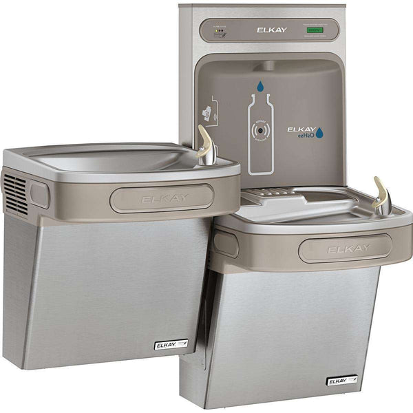 Elkay LZSTLG8WSSK Bottle Filling Station & Versatile Bi-Level ADA Cooler Filtered 8 GPH SS