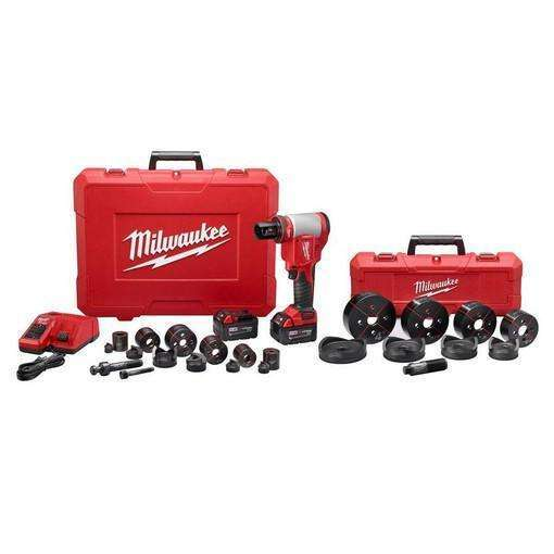 "Milwaukee 2676-23 FORCELOGIC M18 10-Ton Knockout Tool 1/2"" to 4"" Kit"