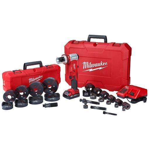 "Milwaukee 2677-23 M18 FORCELOGIC 6T Knockout Tool 1/2"" - 4"" Kit"