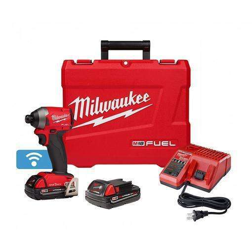 "Milwaukee 2857-22CT M18 FUEl 1/4"" Hex Impact Driver with One Key CP Kit"