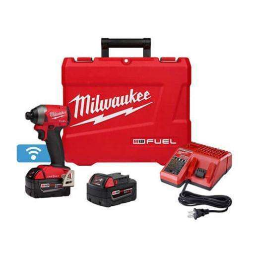 "Milwaukee 2857-22 M18 FUEl 1/4"" Hex Impact Driver with One Key XC Kit"