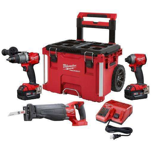 Milwaukee 2997-23SPO M18 FUEL 3-TOOL COMBO KIT W/PACKOUT