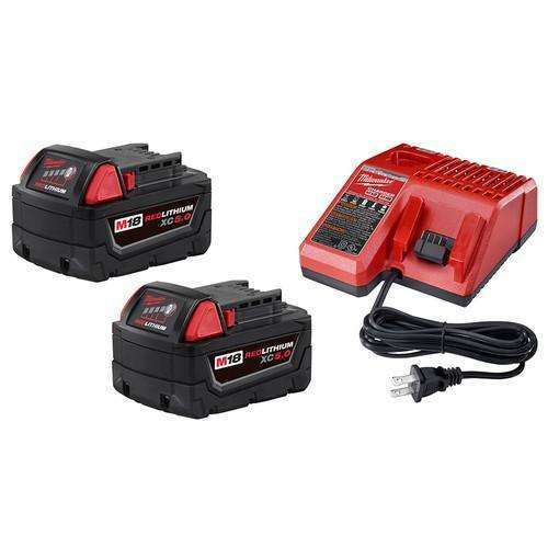 Milwaukee 48-59-1850P M18 (2) XC 5.0 Battery Starter Pack