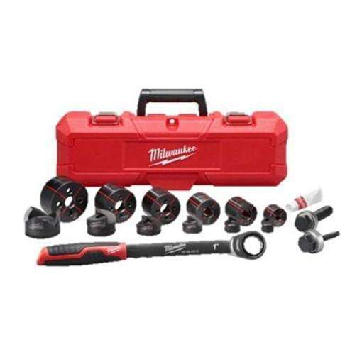 "Milwaukee 49-16-2694 Milwaukee EXACT 1/2"" to 2"" Hand Ratchet Knockout Set"
