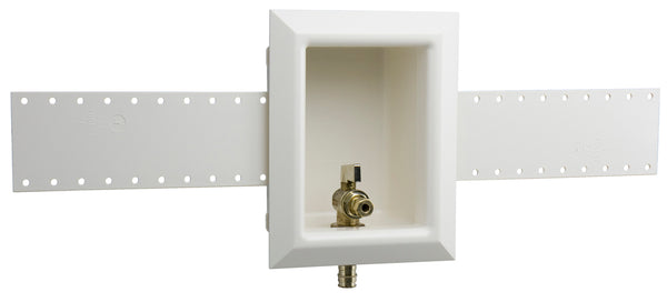 "Uponor LF5955025 ProPEX Ice Maker Box with Support Brackets, 1/2"" LF Brass Valve"