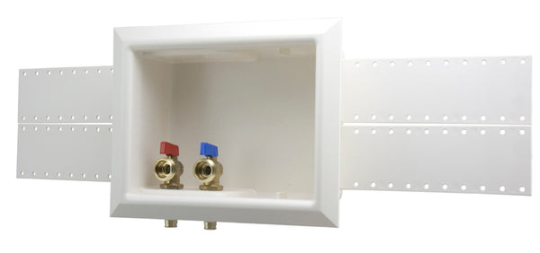 "Uponor LF5930500 ProPEX Washing Machine Outlet Box, 1/2"" LF Brass Valves"